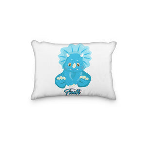 Dinosaur Triceratops Blue Personalized Pillowcase - incandescently