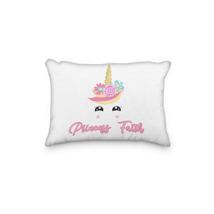 Unicorn Squee Personalized Pillowcase - Incandescently - Glitter Sparkle Throw Pillows - Farmhouse Decor