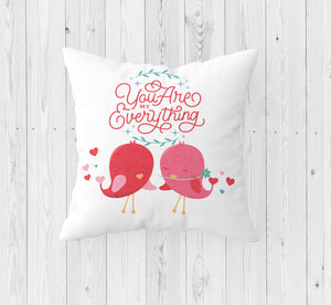 You Are My Everything Throw Pillow - Incandescently - Glitter Sparkle Throw Pillows - Farmhouse Decor