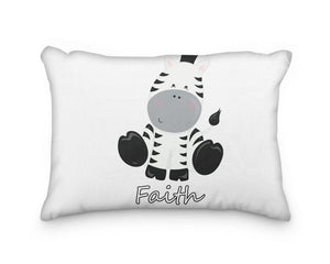 Zebra Body Personalized Pillowcase - incandescently