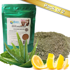 Bael Wellness Clay Mask (Pack of 2),Bentonite/Aloe Vera/Lemon Peel Powder