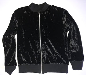 VELVET ZIP-UP TRACK JACKET