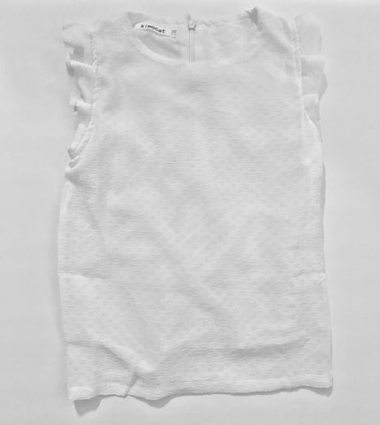 Girls Sleeveless White Blouse