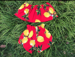 GIRLS LEMONADE SET-RED