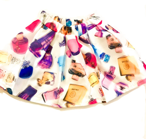 Girls Perfume Print Skirt
