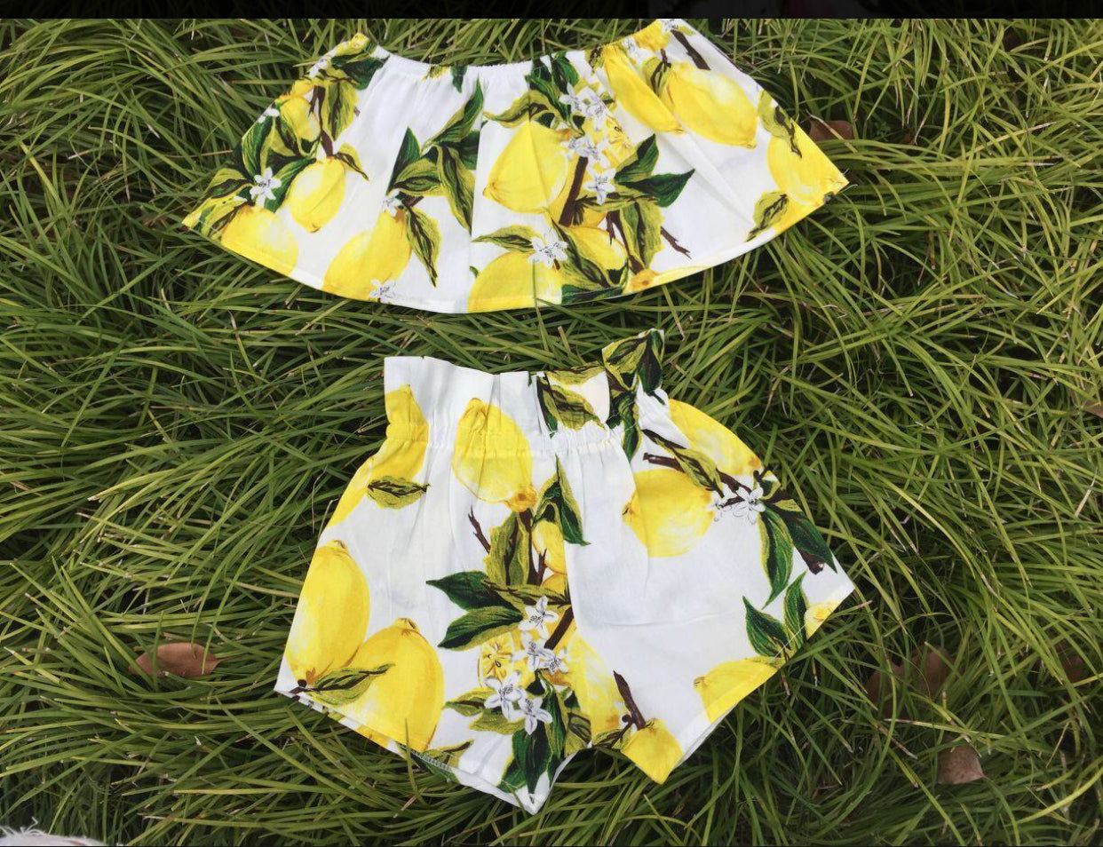 GIRLS LEMONADE SET-WHITE