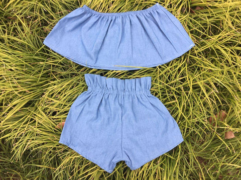 GIRLS LEMONADE SET-DENIM