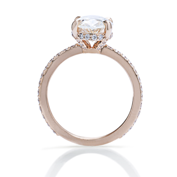 Oval Rose Gold Solitaire Engagement Ring - Charles Koll Jewellers