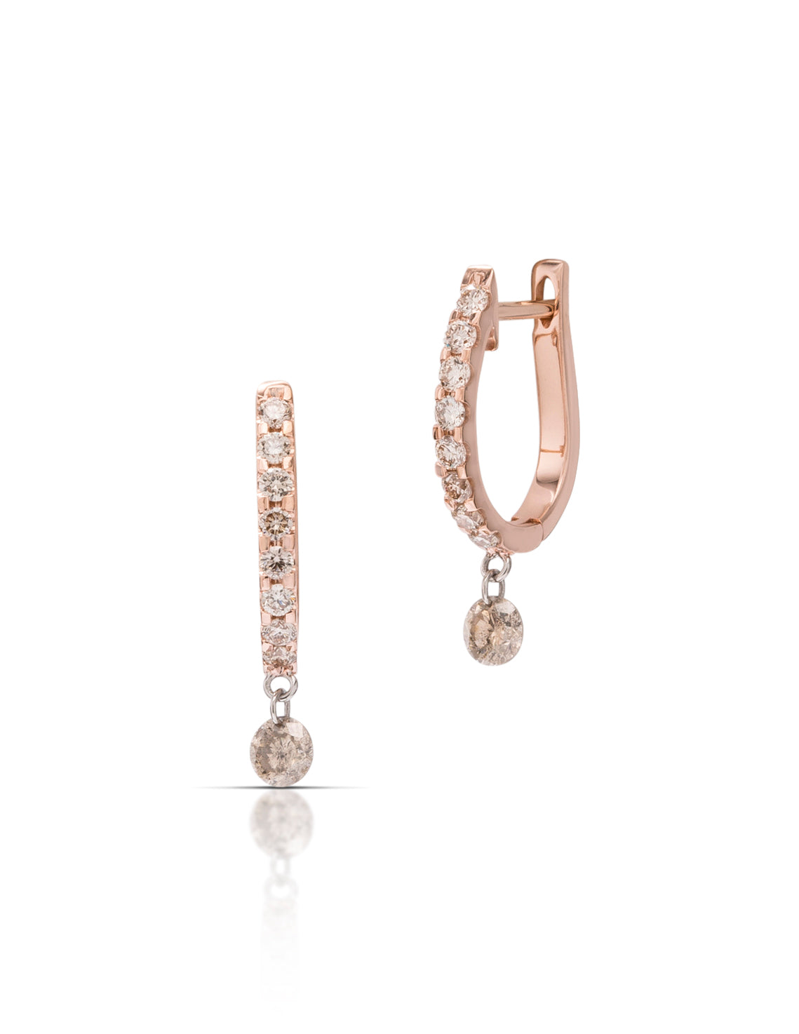 Dancing Diamond Hoop Earrings - Charles Koll Jewellers