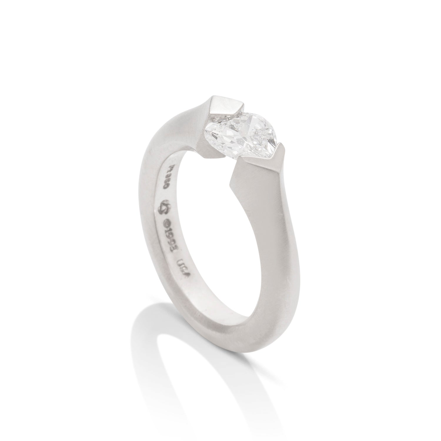 Tension Set Knife Edge Solitaire Engagement Ring - Charles Koll Jewellers