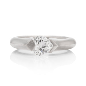 Tension Set Knife Edge Solitaire Engagement Ring