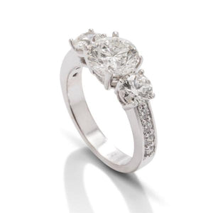 Three Stone Diamond Engagement Ring - Charles Koll Jewellers