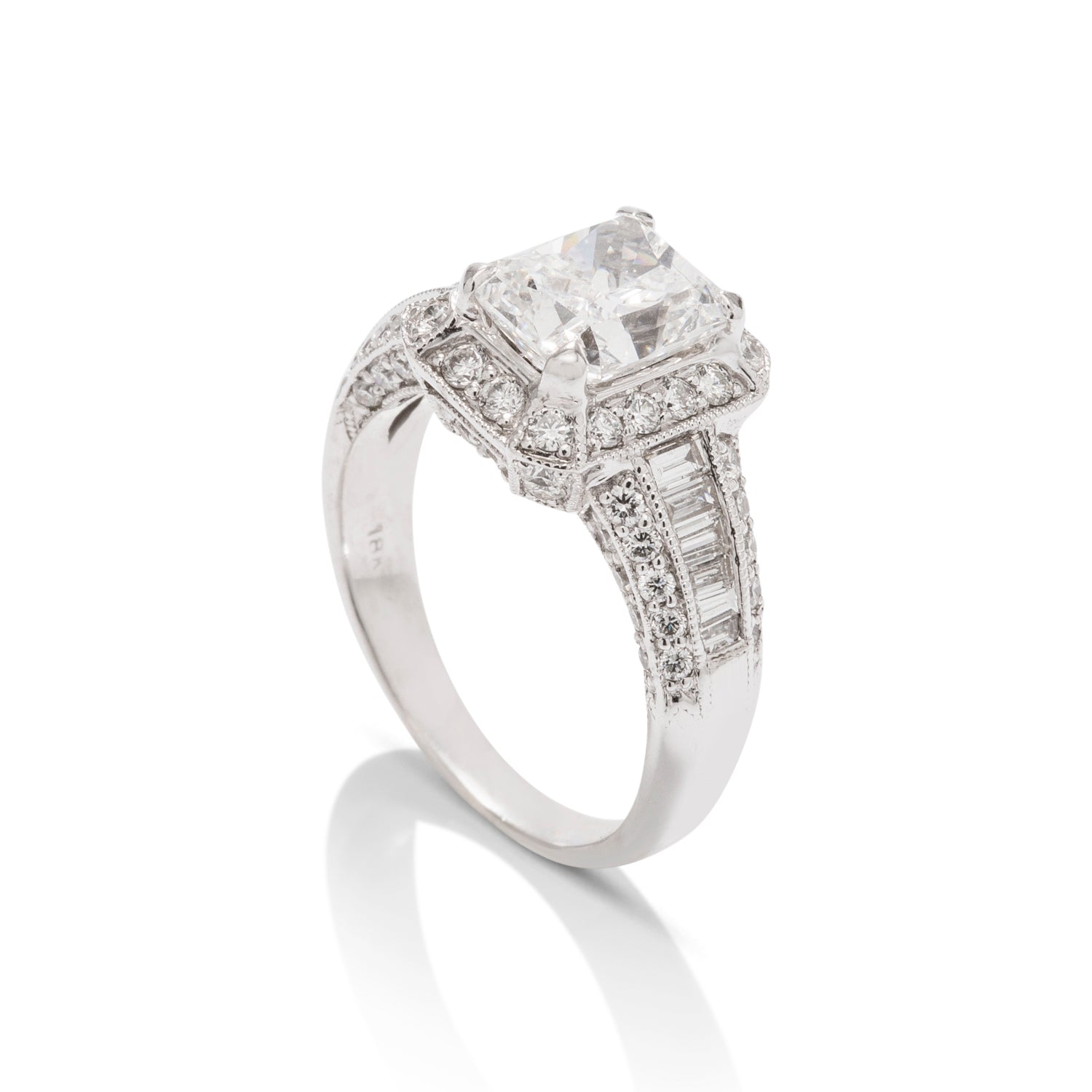 2.02 Carat White Gold Diamond Engagement Ring - Charles Koll Jewellers