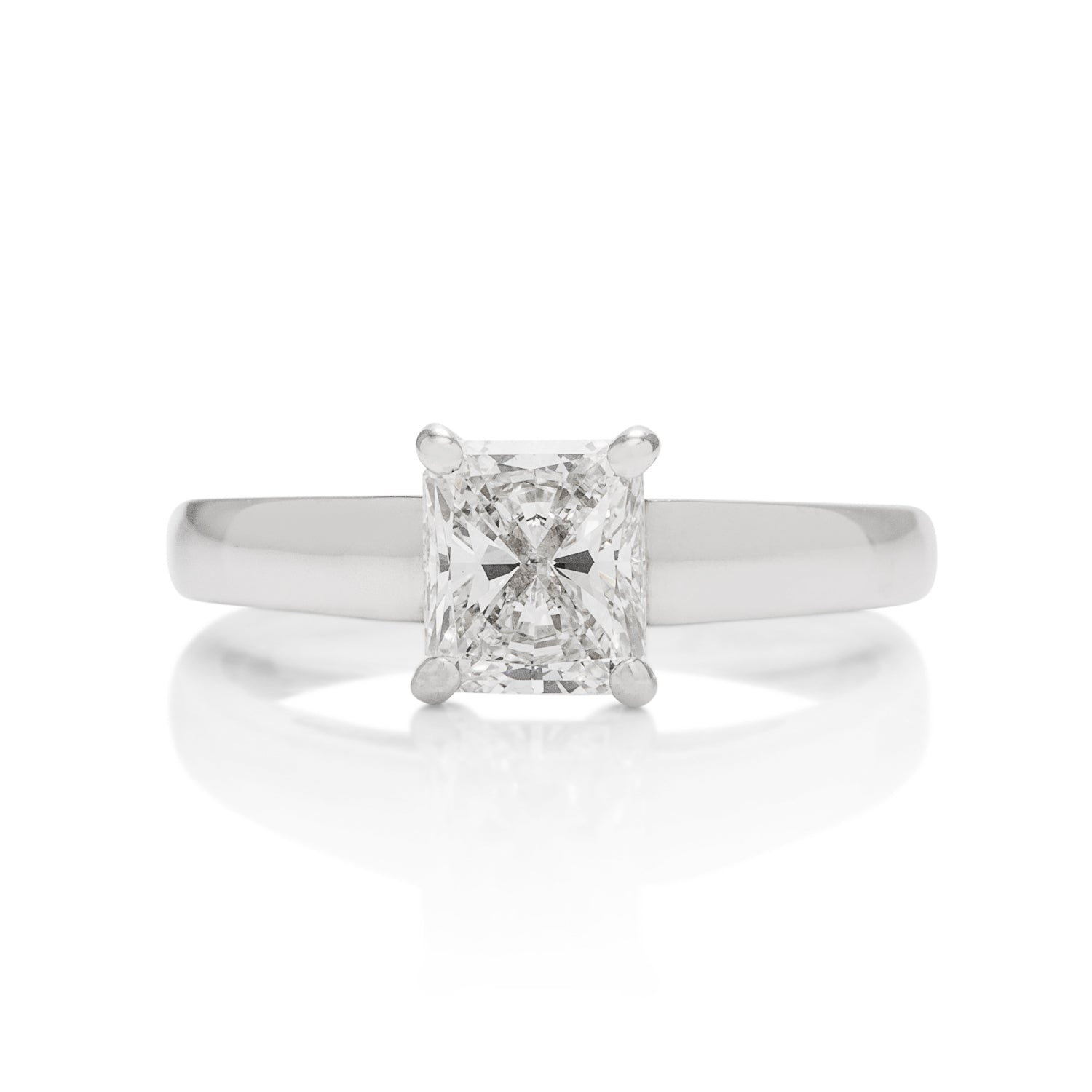 1.01 Carat Radiant Diamond White Gold Engagement Ring - Charles Koll Jewellers