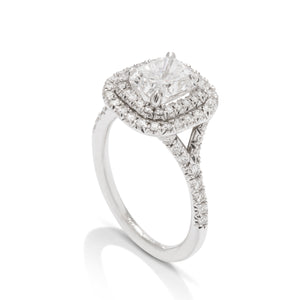 White Gold 1.50 Carat Radiant Diamond Engagement Ring - Charles Koll Jewellers