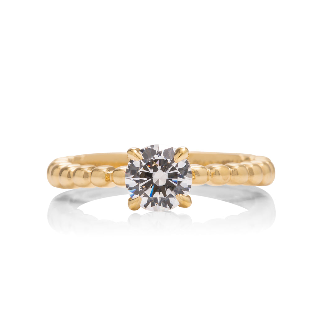 HOF Signature Beaded Solitaire Engagement Ring - Charles Koll Jewellers