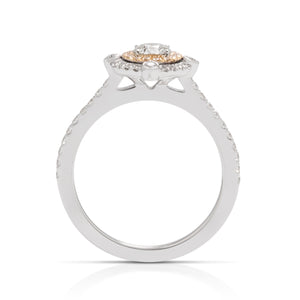 Compass Double Halo Diamond Engagement Ring