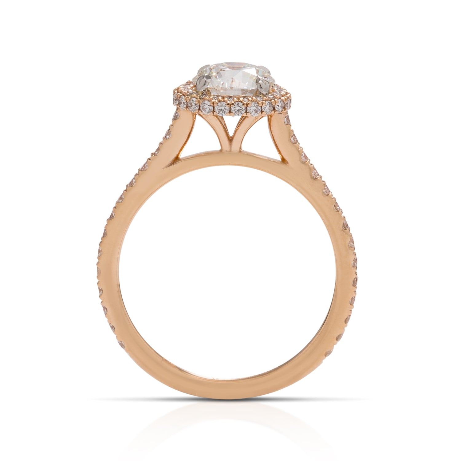 18k Rose Gold 1.02ct Diamond Ring - Charles Koll Jewellers