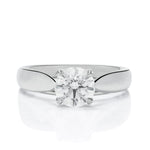 Round Solitaire Engagement Ring - Charles Koll Jewellers