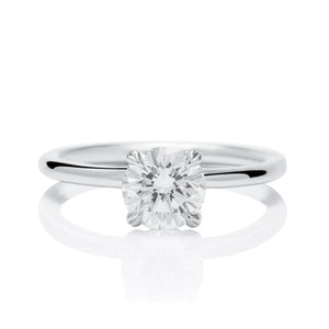 Simple Solitaire Engagement Ring - Charles Koll Jewellers