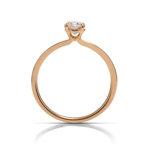 "Hearts on Fire 18k Rose Gold ""Signature Solitaire"" Diamond Ring - Charles Koll Jewellers"