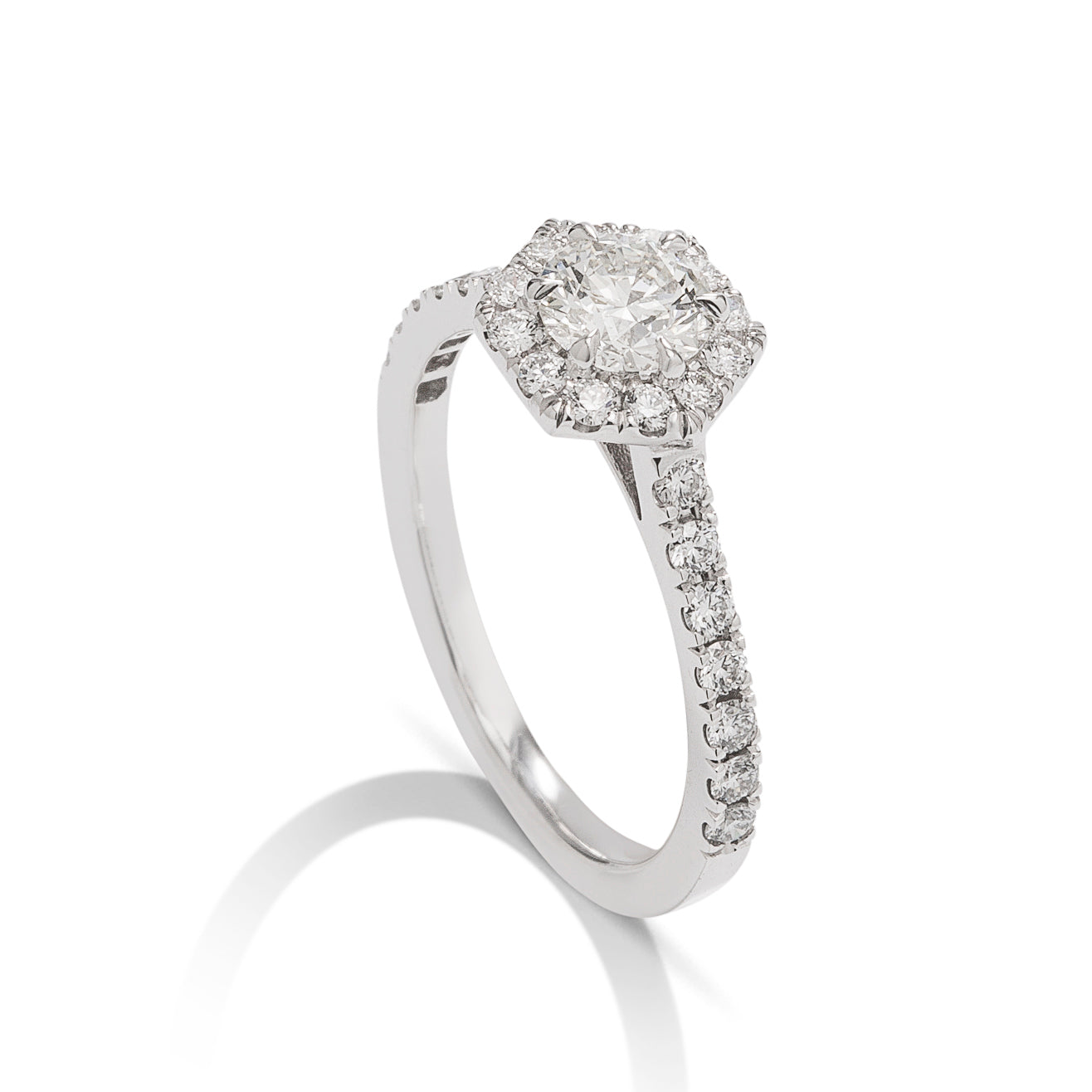 Hearts on Fire 18k White Gold Hexagonal Diamond Ring - Charles Koll Jewellers