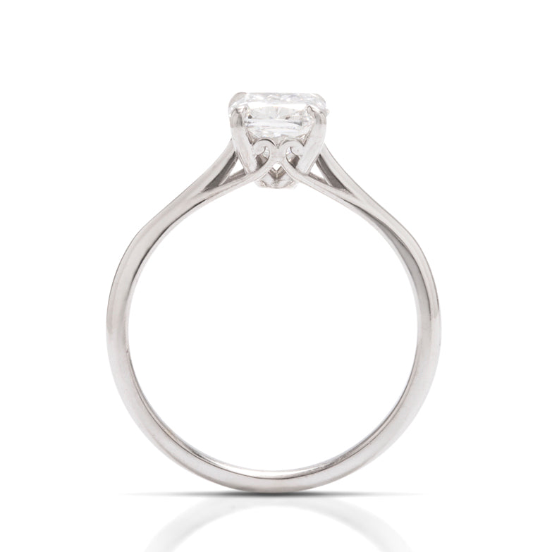 Elongated Cushion Solitaire Engagement Ring - Charles Koll Jewellers