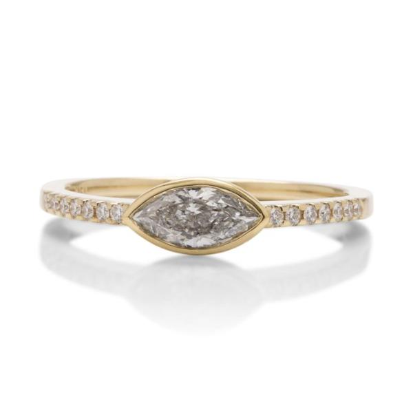 Marquise Bezel Set Ring - Charles Koll Jewellers