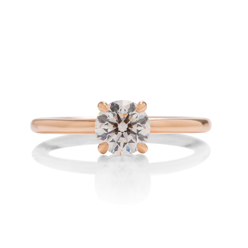 18k Rose Gold Solitaire Engagement Ring - Charles Koll Jewellers