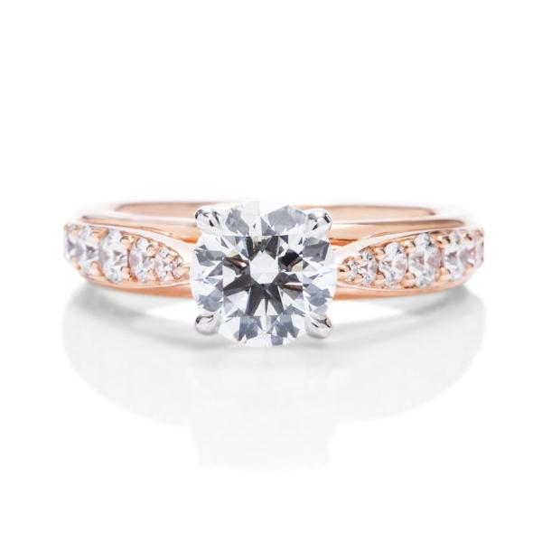 Rose Gold Diamond Band Engagement Ring - Charles Koll Jewellers