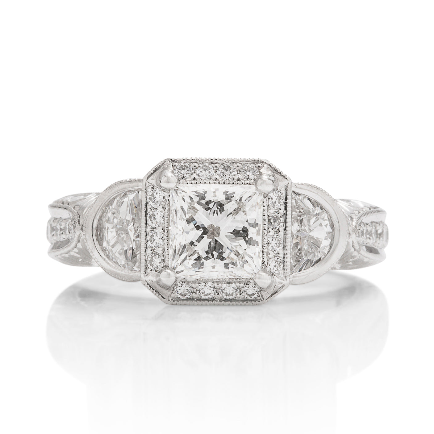 "Platinum ""3 Stone"" Diamond Ring - Charles Koll Jewellers"