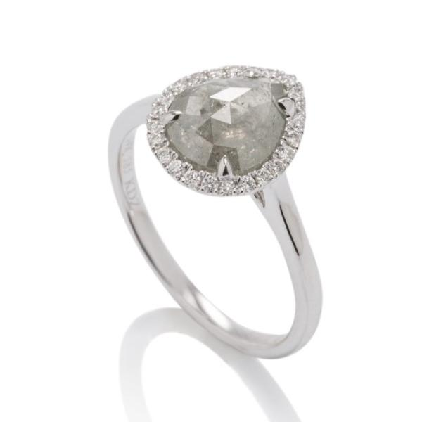 Organic Diamond Halo Ring - Charles Koll Jewellers