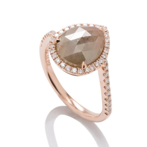 Organic Rose Gold Diamond Ring - Charles Koll Jewellers