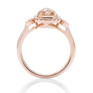 Organic Diamond Rose Gold Ring - Charles Koll Jewellers