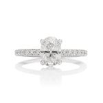 Platinum Oval Diamond Ring - Charles Koll Jewellers