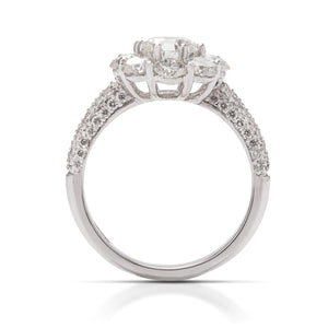 Big Look Halo Engagement Ring - Charles Koll Jewellers