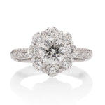 Large Halo Engagement Ring - Charles Koll Jewellers