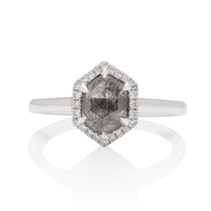 Grey Rough Diamond Ring - Charles Koll Jewellers