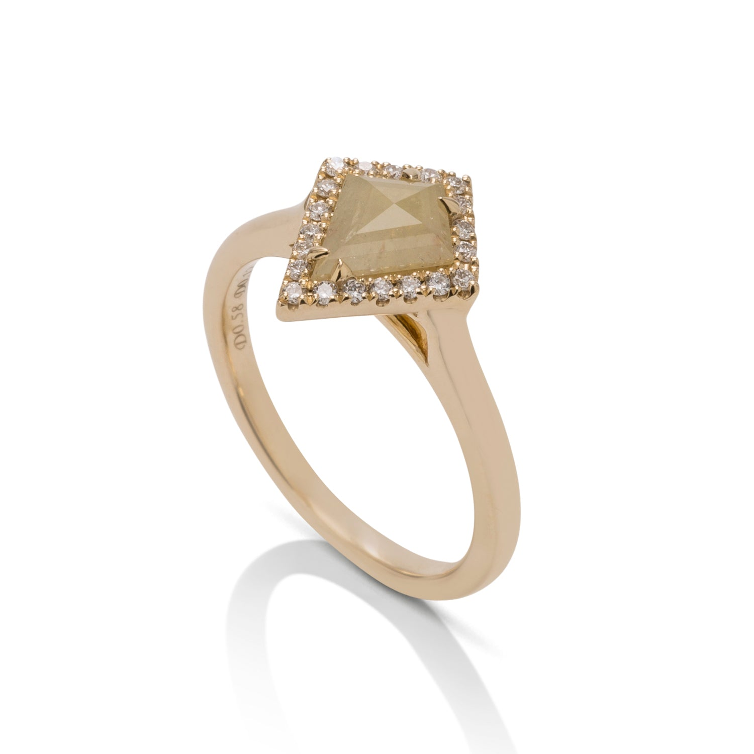 Rough Yellow Diamond Ring - Charles Koll Jewellers