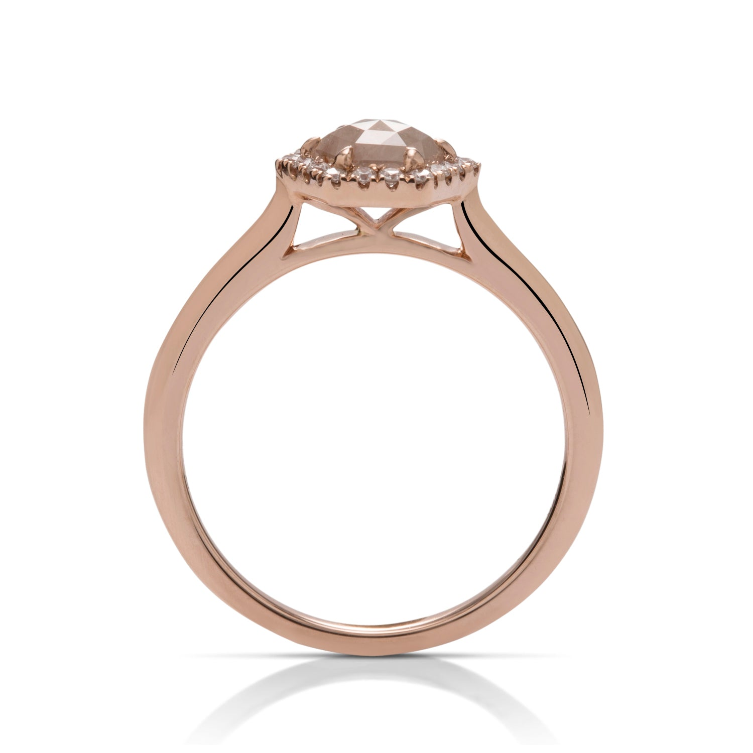 Hexagonal Rose Rough Diamond Ring - Charles Koll Jewellers