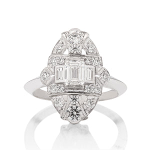 Vintage Lace Diamond and Platinum Ring - Charles Koll Jewellers
