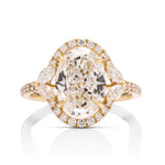 3 Carat Oval Halo Engagement Ring