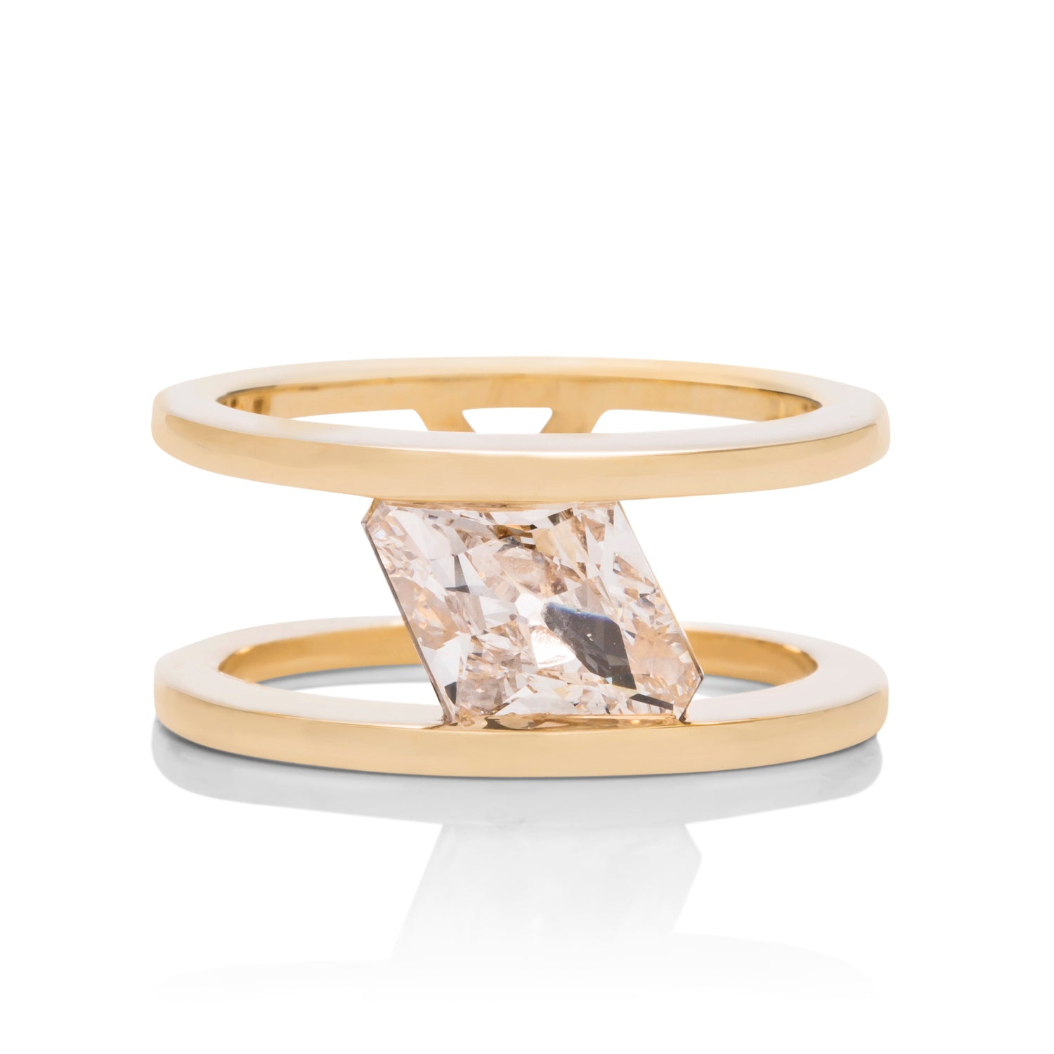 Kite Diamond Double Band Engagement Ring - Charles Koll Jewellers