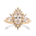 Fancy Halo Marquise Engagement Ring