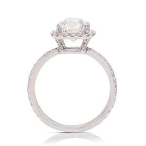 Old Mine Halo Engagement Ring - Charles Koll Jewellers