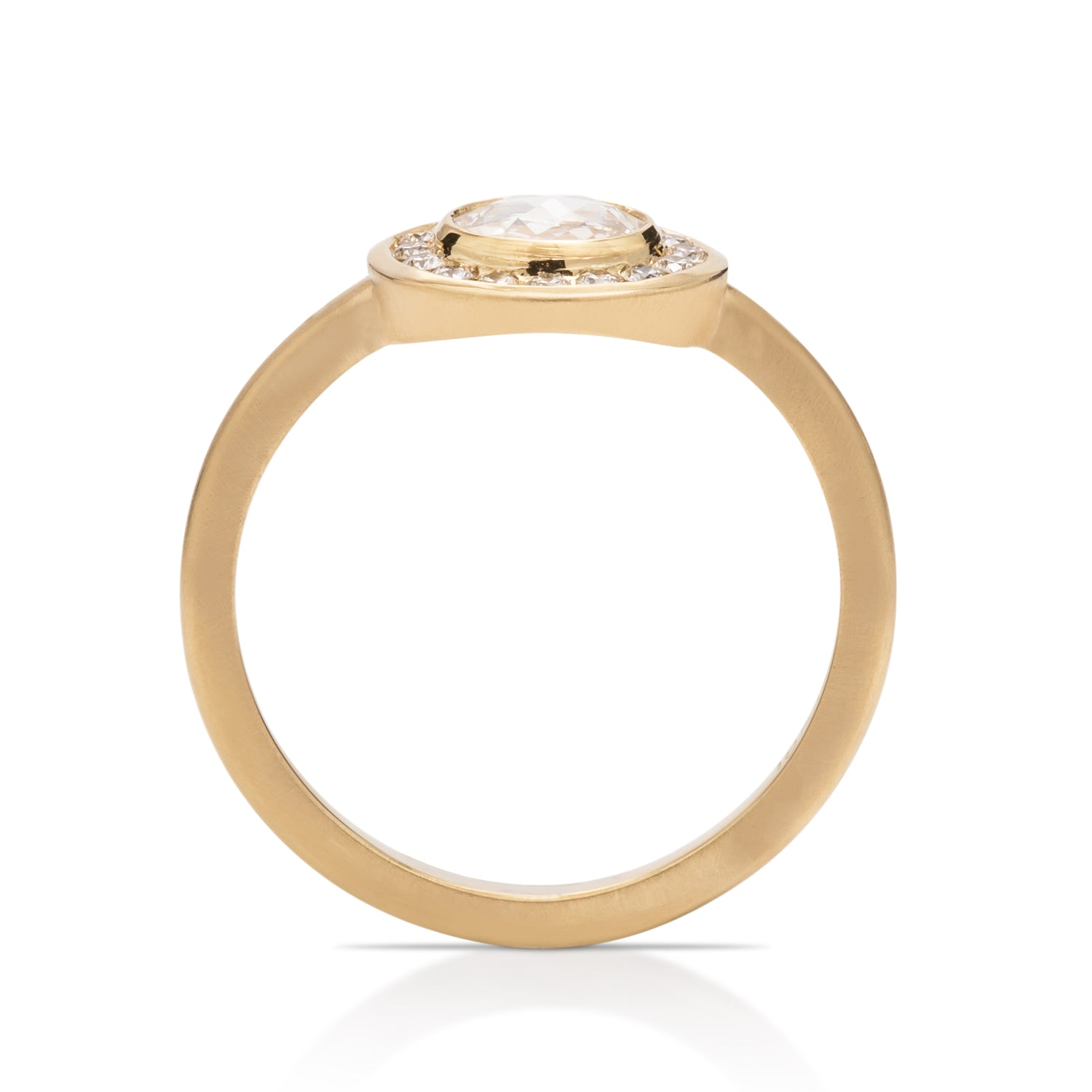 Yellow Gold and Rose Cut Diamond Ring