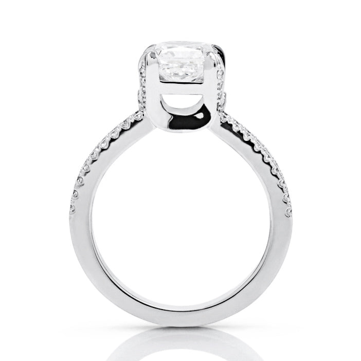 "Square Radiant ""U"" Engagement Ring - Charles Koll Jewellers"