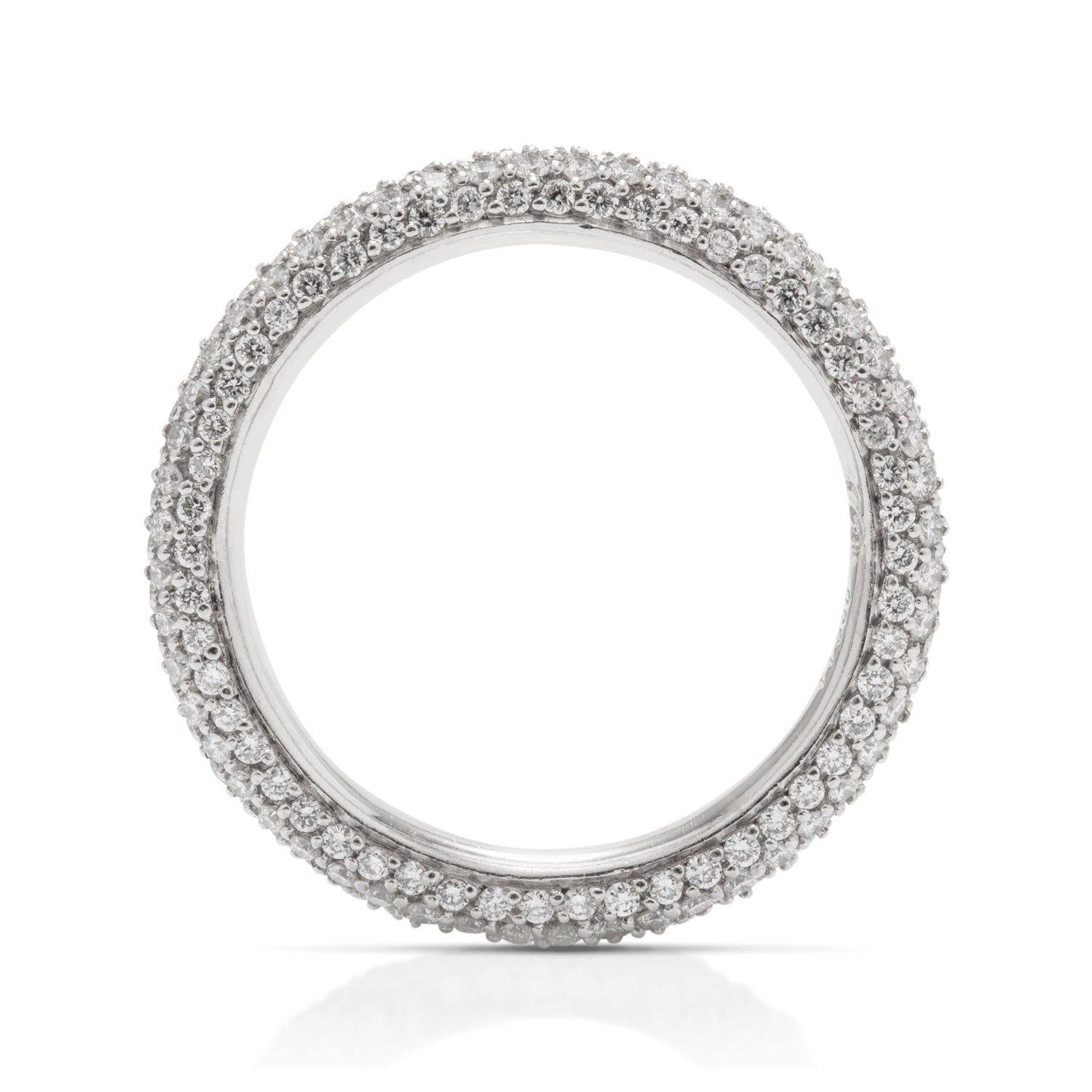 Five Row Platinum Pave Diamond Band - Charles Koll Jewellers