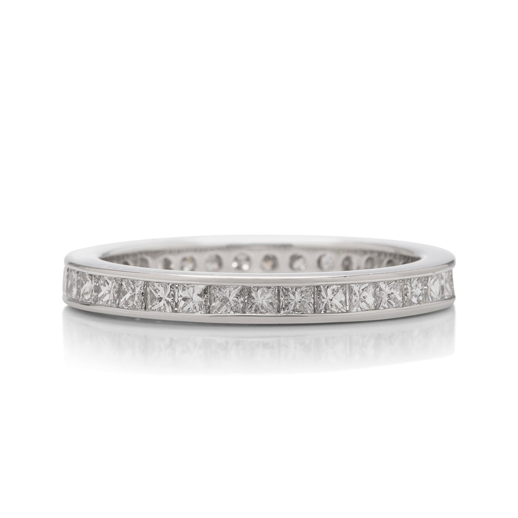 Channel Set Princess Eternity Band - Charles Koll Jewellers