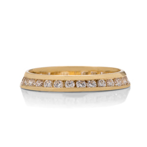 Angled Diamond Wedding Band - Charles Koll Jewellers